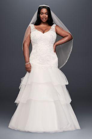 Long Mermaid/ Trumpet Wedding Dress - David's Bridal Collection