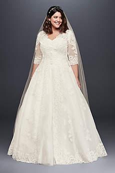 Long Ballgown Jacket Dress - David's Bridal Collection