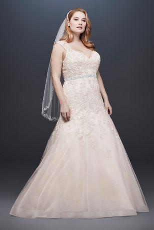 Long Mermaid / Trumpet Wedding Dress - David's Bridal Collection