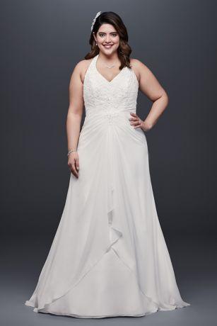 Long A-Line Wedding Dress - David's Bridal Collection