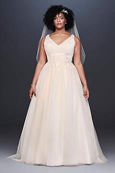 Long A Line Vintage Wedding Dress David S Bridal Collection