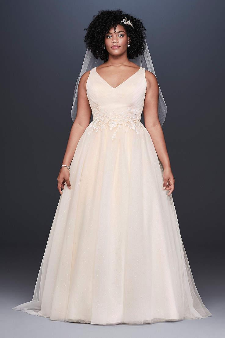 542067ae4ab Long A-Line Wedding Dress - David s Bridal Collection