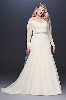 Long Mermaid Trumpet Formal Wedding Dress David S Bridal Collection