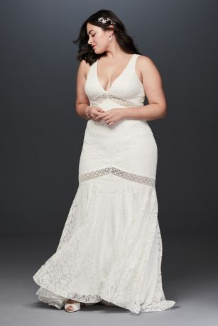 93a9d6fd202 Long Mermaid  Trumpet Wedding Dress - Galina · Galina. V-Neck Lace ...