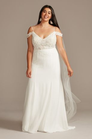Long Mermaid/ Trumpet Wedding Dress - David's Bridal Collection