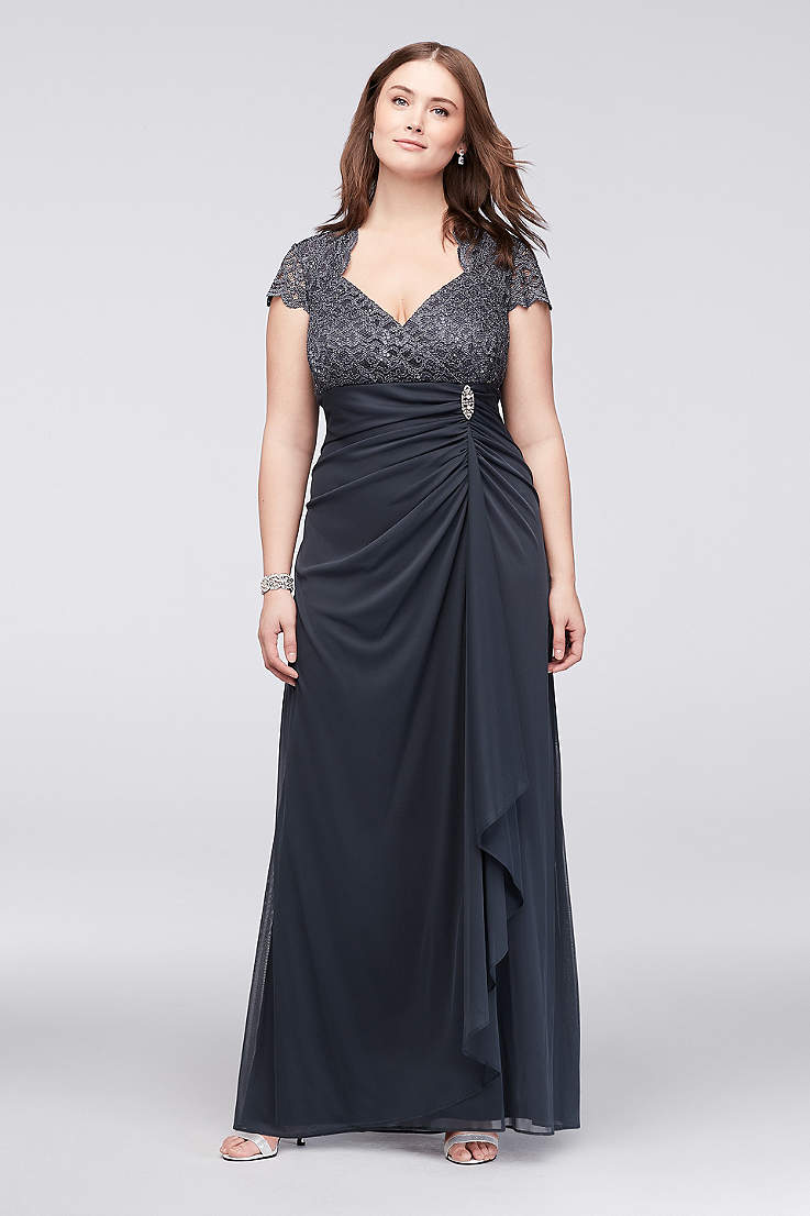 a5c3b5fb7e5 Long Sheath Cap Sleeves Dress - Betsy and Adam