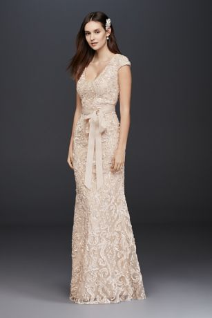 Champagne Colored Wedding Dresses With Sleeves - Wedding Dresses ...