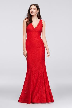 39fcd18310 Long Mermaid  Trumpet Tank Dress - Betsy and Adam · Betsy and Adam. Allover Lace  V-Neck ...