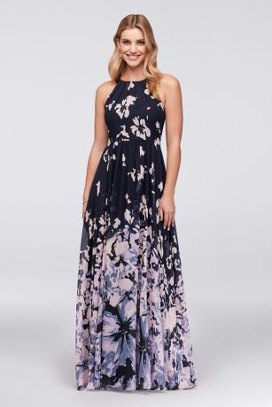 Long A-Line Halter Dress - Betsy and Adam