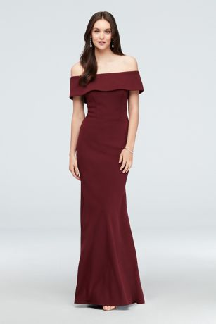 7842146d33 Long Mermaid  Trumpet Off the Shoulder Dress - Betsy and Adam