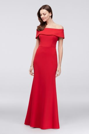 Long Mermaid/ Trumpet Off the Shoulder Dress - Betsy and Adam