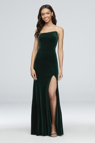 fd9fe63eee56 Long Sheath Strapless Dress - Betsy and Adam
