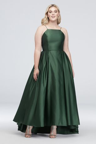 8f256698358 Long Ballgown Halter Dress - Betsy and Adam · Betsy and Adam