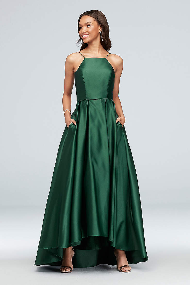 288a5d6fc2 Long Ballgown Halter Dress - Betsy and Adam