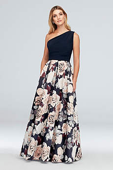 Long Ballgown One Shoulder Formal Dresses Dress - Betsy and Adam