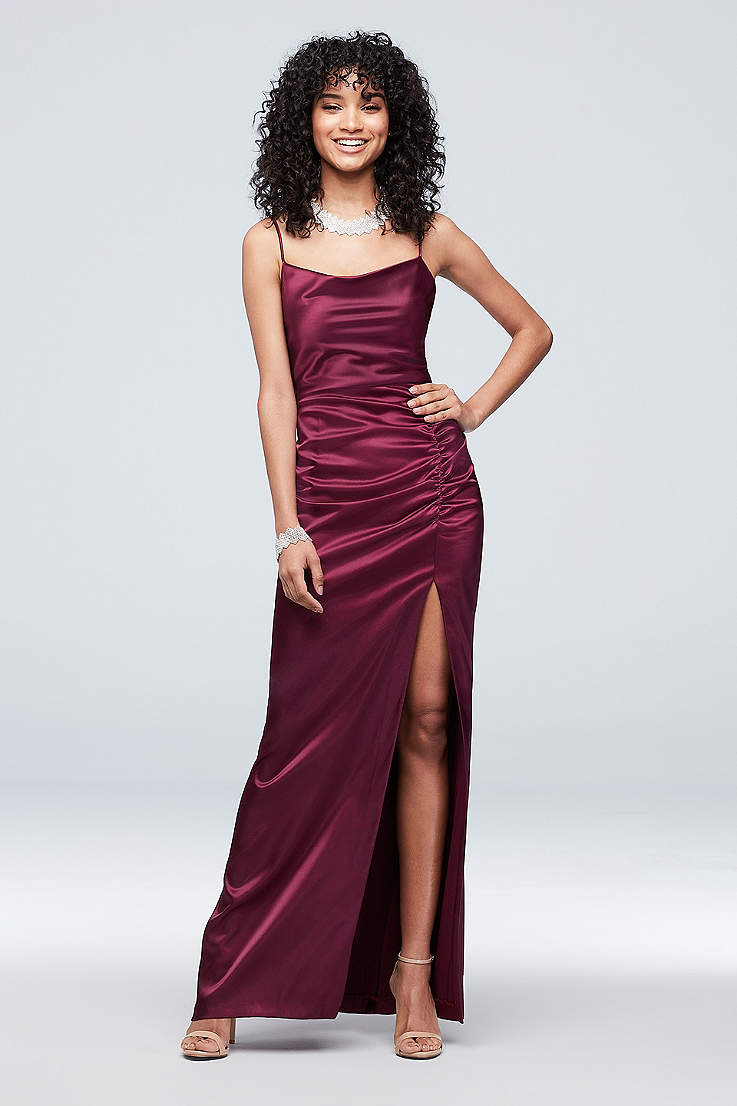 753c8090858fb6 Satin Prom Dresses: Long & Short Gowns in Every Color   David's Bridal