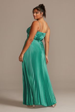 Long A-Line Spaghetti Strap Dress - Betsy and Adam
