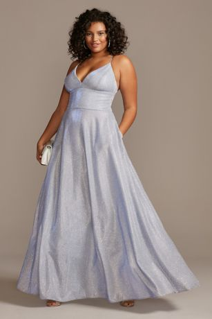 Long Ballgown Spaghetti Strap Dress - Betsy and Adam