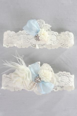Something Blue Vintage Lace Garter Set