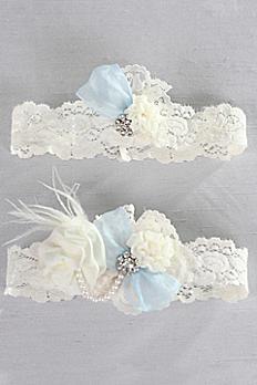 Something Blue Vintage Lace Garter Set A91400