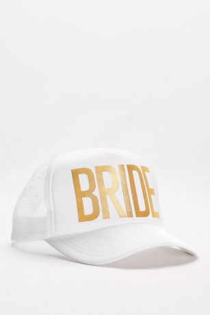 Gold Foil Bride Trucker Hat