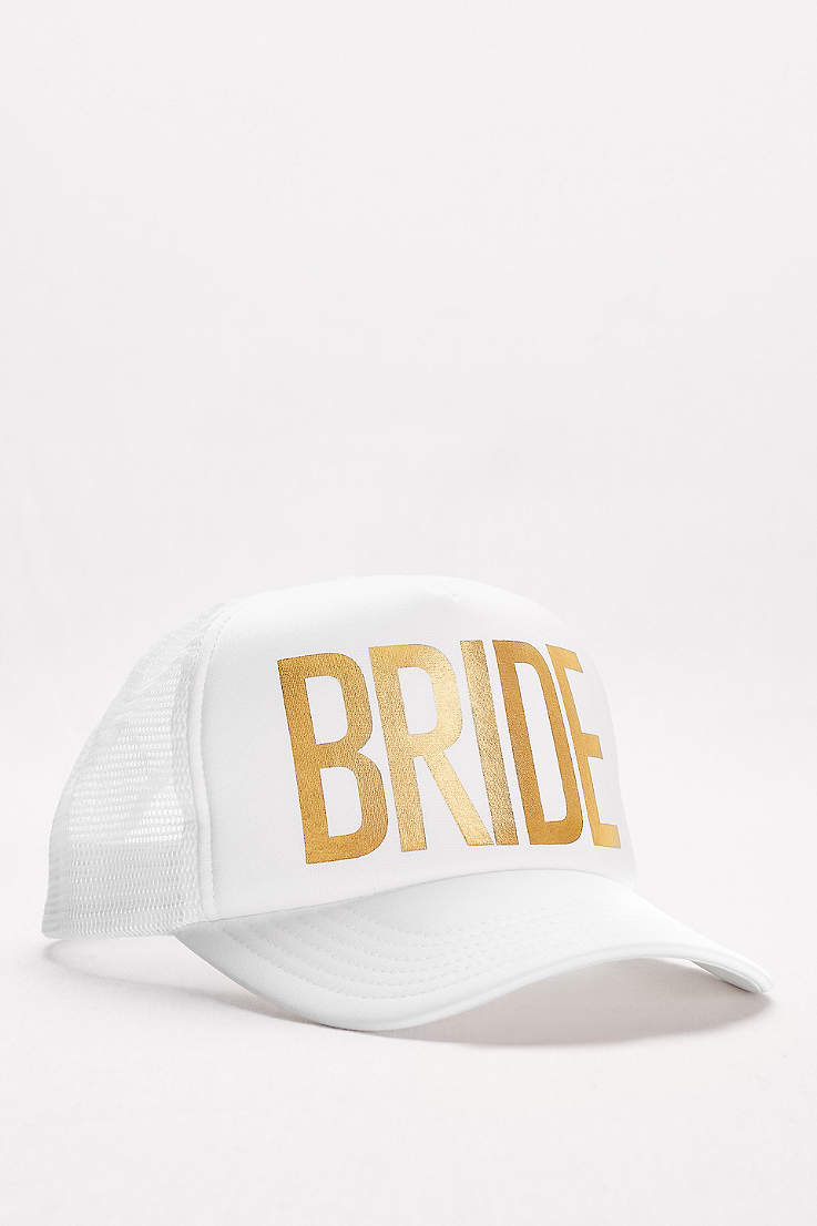 All Sale Davids Bridal Tendencies Caps Navy Pop Gold Foil Bride Trucker Hat