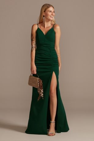 Long Sheath Spaghetti Strap Dress - Emerald Sundae