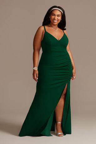 Long Sheath Spaghetti Strap Dress - Emerald Sundae