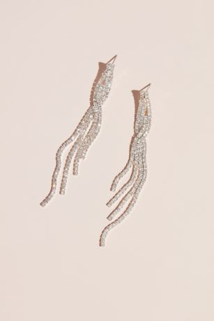 Shoulder Duster Dangle Earring with Twist Detail