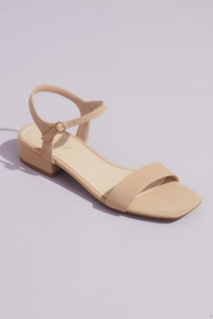 Bamboo Beige;Grey;Yellow Heeled Sandals (Metallic Block Heel Sandals with Ankle Strap)