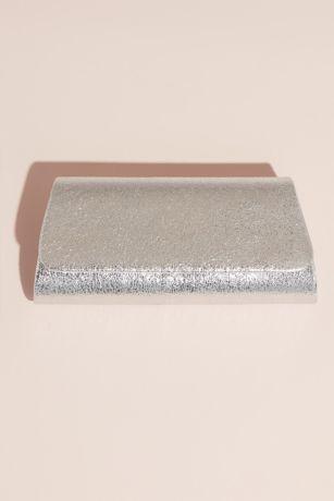 Shimmery Crinkle Foil Foldover Clutch