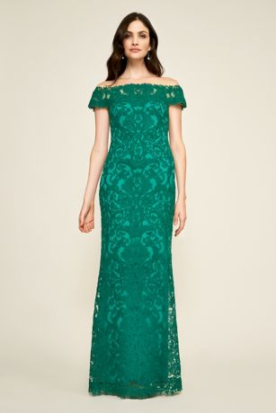 Long Mermaid / Trumpet Off the Shoulder Dress - Tadashi Shoji