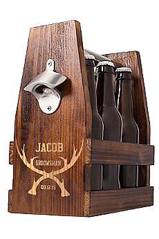 Personalized Antlers Craft Beer Holder