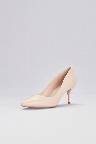 Charles By Charles David Beige Pumps (Mid-Heel Pointy Toe Pumps)