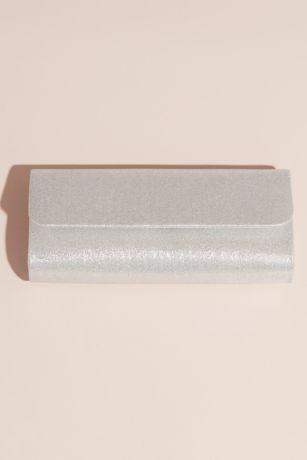 Sleek Metallic Glitter Foldover Clutch