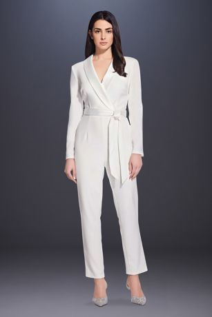 Short Jumpsuit Wedding Dress - Adrianna Papell