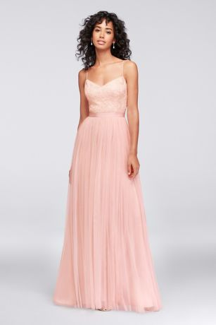 Sequin and Tulle A-Line Bridesmaid Dress