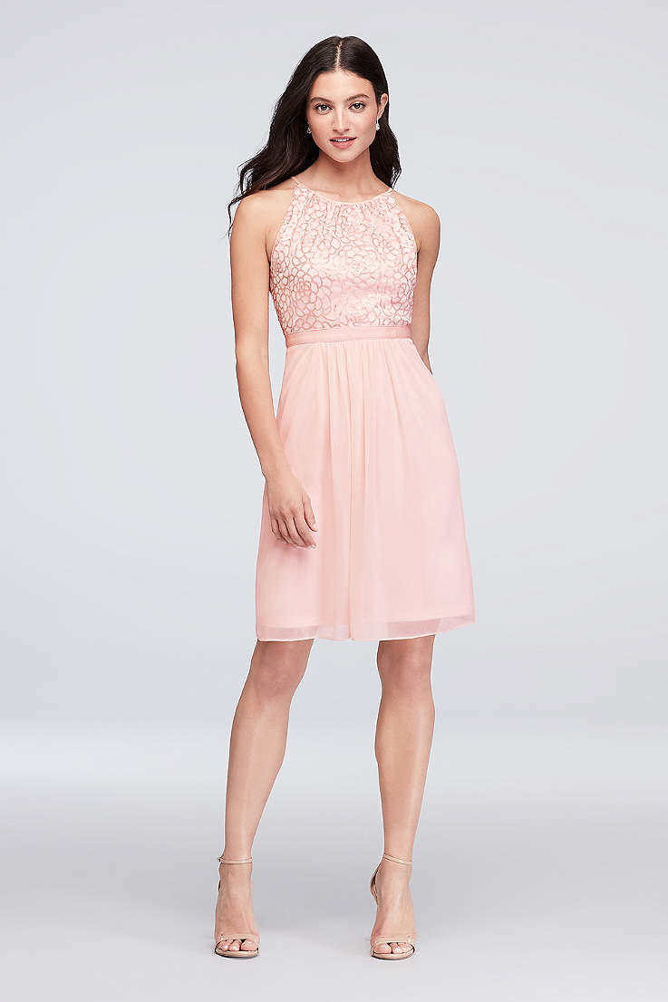 69e9594994 Short Sheath Halter Dress - Reverie