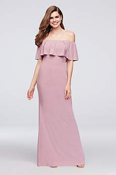 Long Sheath Off the Shoulder Prom Dress - Reverie