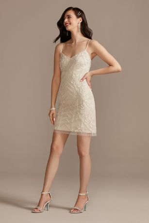 Short Sheath Spaghetti Strap Dress - DB Studio