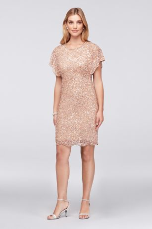 Short Sheath Short Sleeves Dress - Adrianna Papell