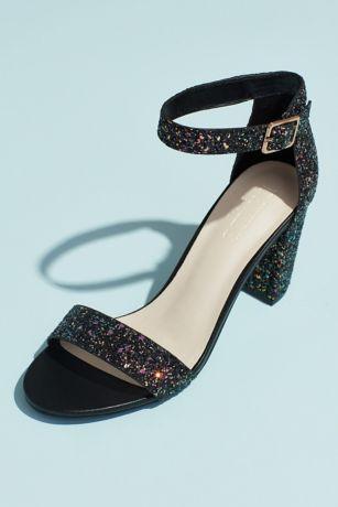 David's Bridal Multi Heeled Sandals (Ankle Strap Block Heel Sandal)