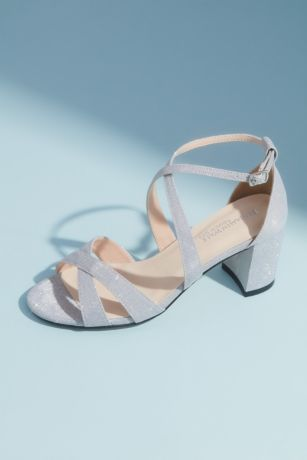 Benjamin Walk Beige;Grey Sandals (Double Crisscross Block Heel Sandals)
