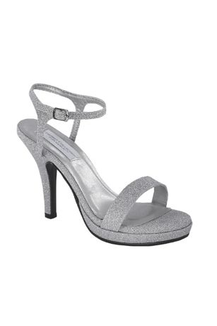 Dyeables Blue;Grey;Ivory Heeled Sandals (Slim Strap Glitter Platform Sandals)
