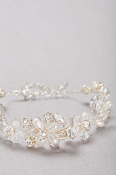 Botanical Crystal and Pearl Bracelet