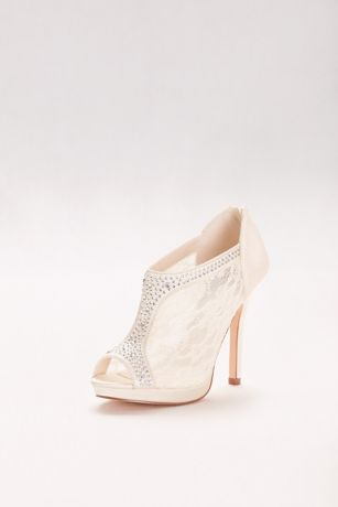 High Heel Lace Shootie with Crystals