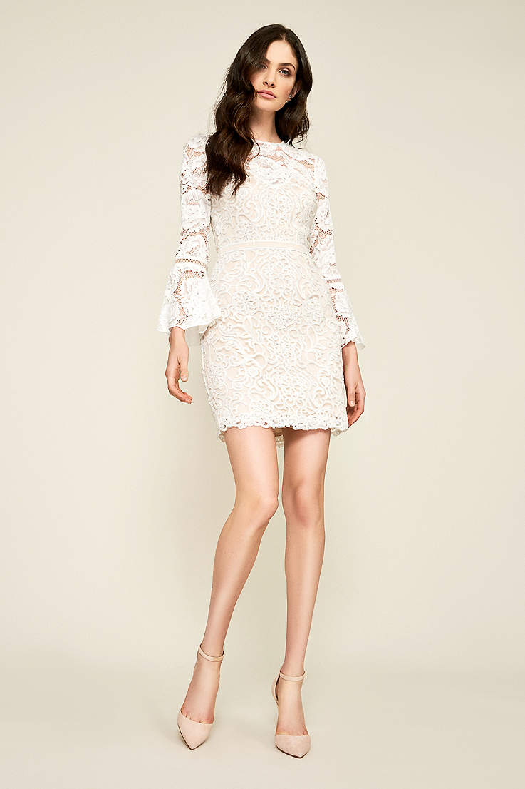 a234c083a1 Short Sheath Wedding Dress - Tadashi Shoji