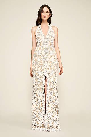 Destination beach wedding dresses davids bridal long sheath beach wedding dress tadashi shoji junglespirit Images