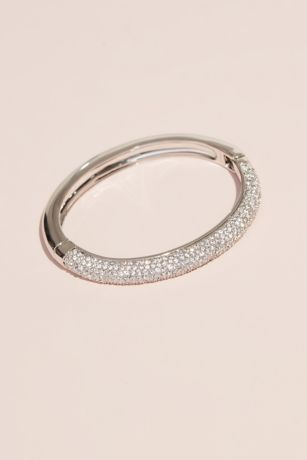 Swarovski Bangle Bracelet with Crystal Rows