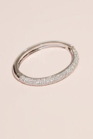 Swarovski Bangle Bracelet with Crystal Rows